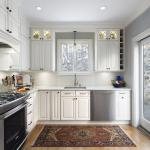 Tudor Kitchen Design keeping the footprint in tact with the addition of functional design elements. Kitchen Space Planning, Material Selection, and Project Mgmt services.